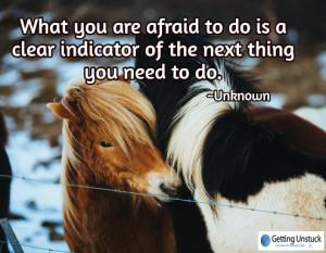 afraid to do