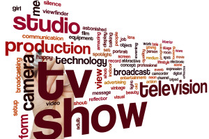 TV show word cloud concept